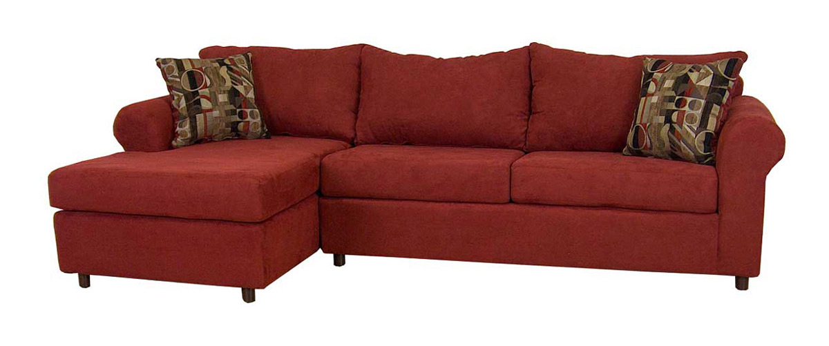 Triad upholstery 300 series bulldozer burgundy sectional for Burgundy chaise lounge