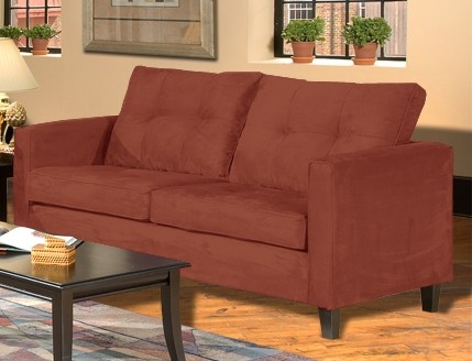 Valuable Triad Upholstery S BP Heather Sofa Bulldozer Persimmon Product Photo