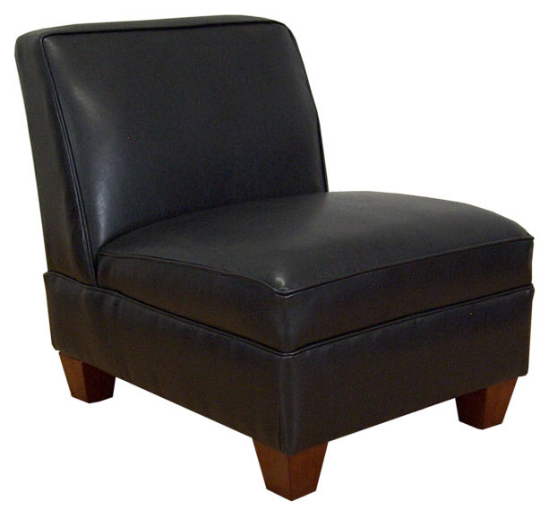 Triad Upholstery Sally Armless Chair - Bike Black