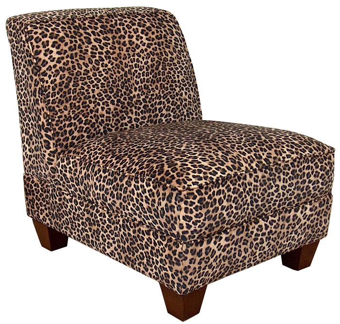 Triad Upholstery Sally Armless Chair - Leopard