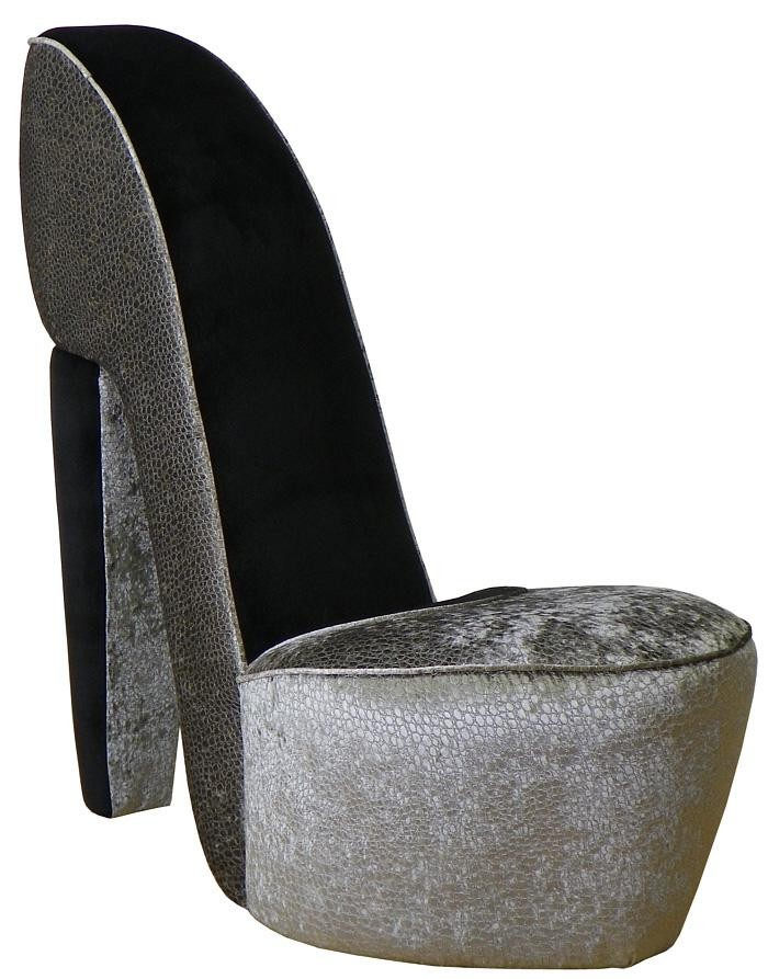 Triad Upholstery Diva Shoe Chair - Excite Graphite