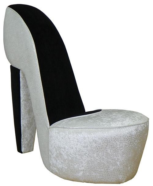 Triad Upholstery Diva Shoe Chair - Excite Pearl