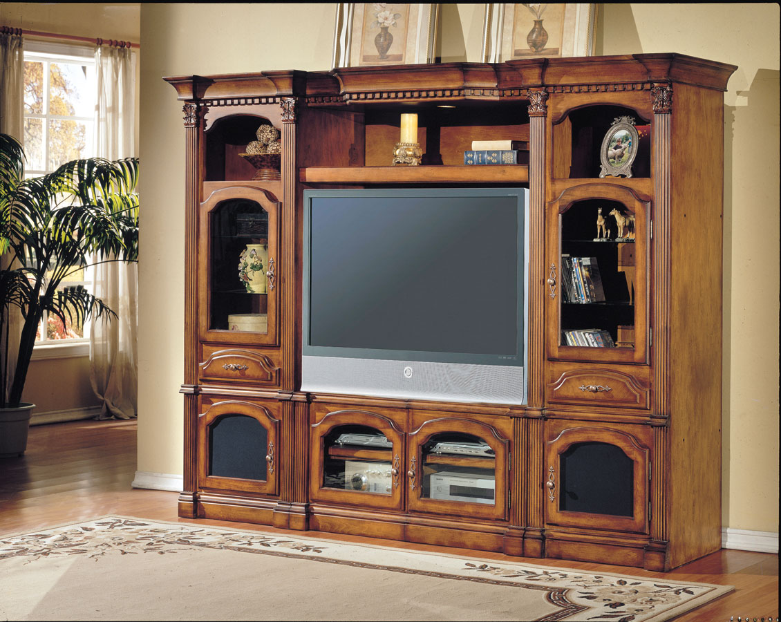 Photo of Parker House Tuscany 4 pc Entertainment Center (Entertainment Center Furniture, Wall Unit, Entertainment Center Furniture)