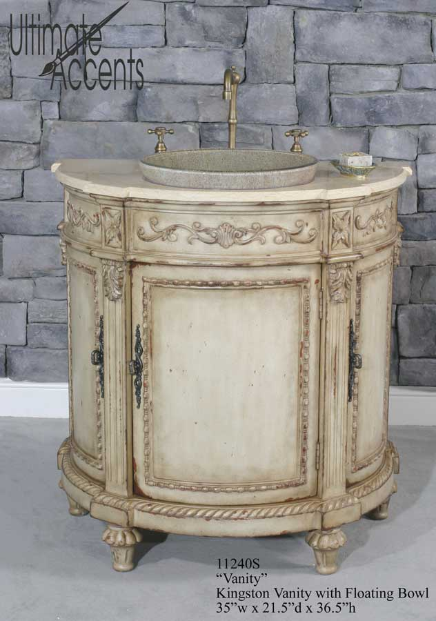 ... Accents Kingston Vanity With Floating Bowl (Bathroom Vanity Sinks