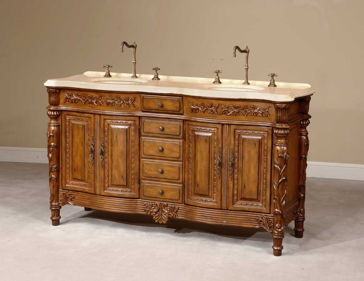 Cheap Ultimate Accents Walnut Double Sink
