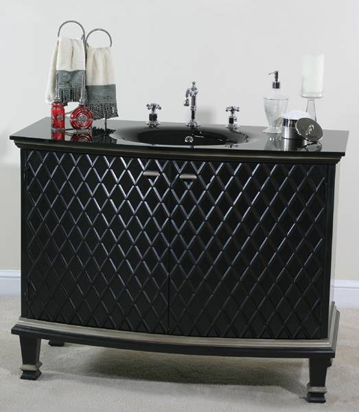 Ultimate Accents Raven Black Vanity