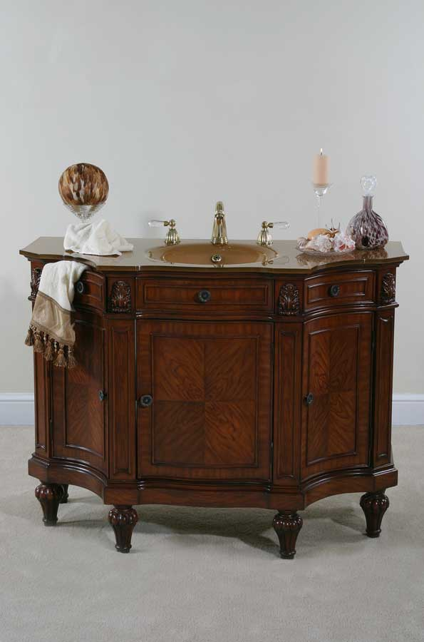 Cheap Ultimate Accents 48in Cherry Burl Vanity