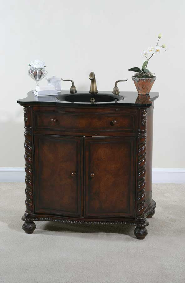 Photo of Ultimate Accents 35in Mahogany Vanity (Bathroom Vanity Sinks)