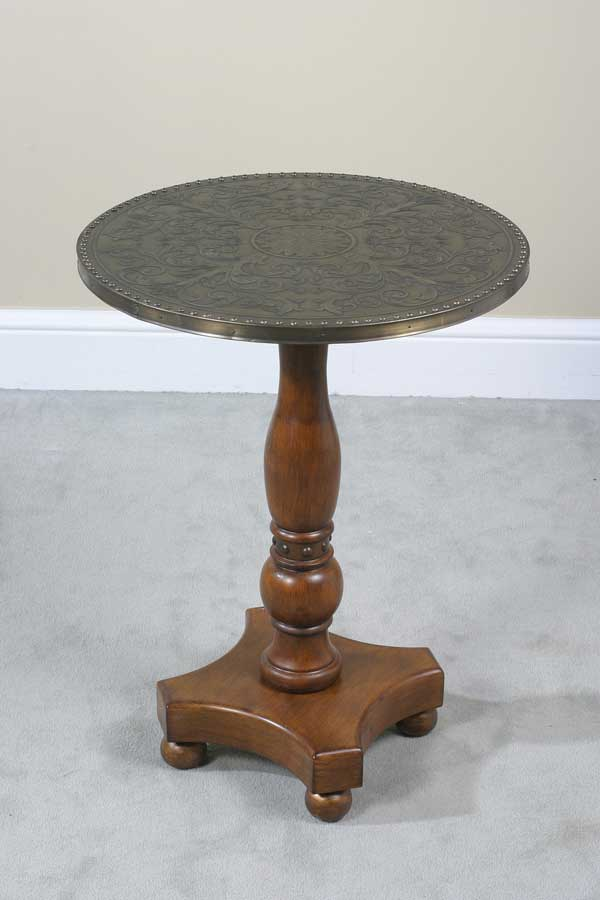 Cheap Ultimate Accents Drummond Copper Top End Table