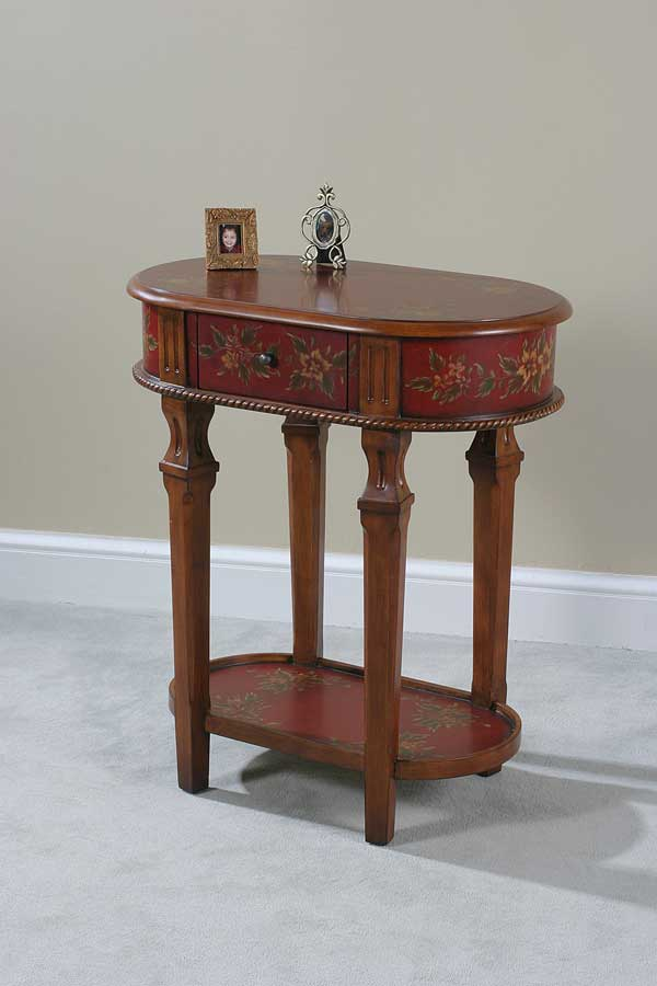 Ultimate Accents Crimson Lamp Table