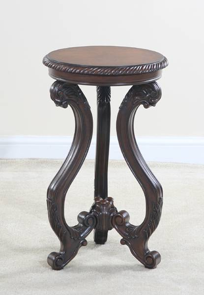 Ultimate Accents Classica Round Cherry Venner End Table