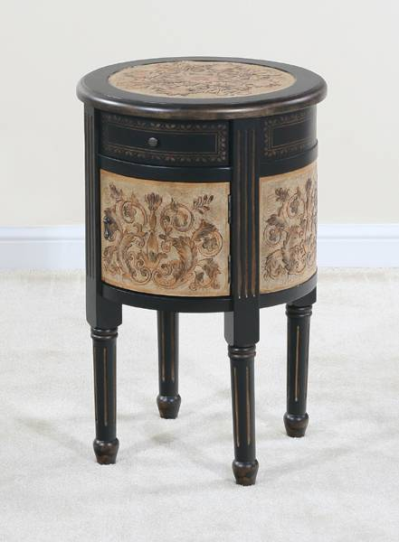 Ultimate Accents Circa 1 Drawer- 1 Door Barrel End Table
