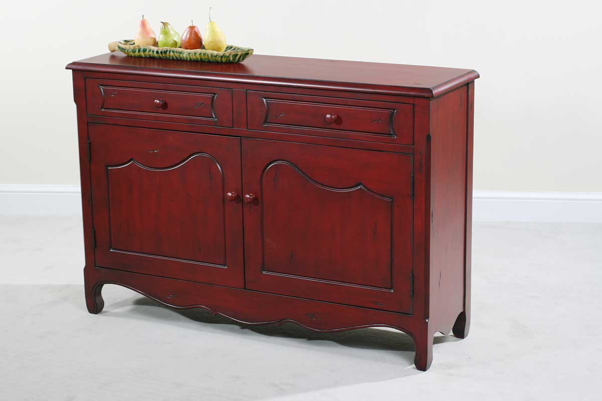 Cheap Ultimate Accents Rachel Distressed Red Cupboard
