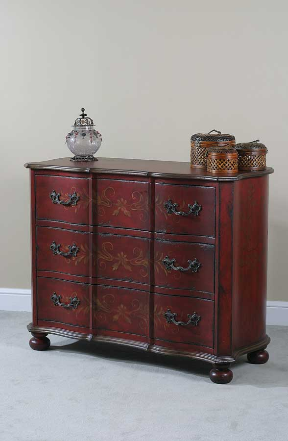Ultimate Accents Crimson 3 Drawer Great Chest
