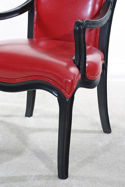 Ultimate Accents Diablo Lipstick Red Bi Cast leather Chair