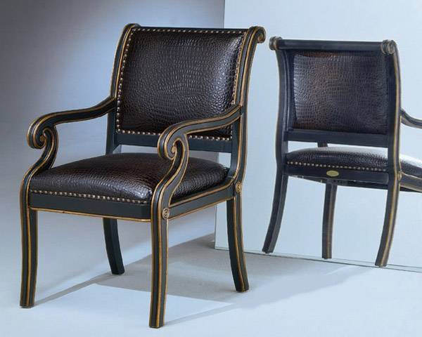 Ultimate Accents Maria Ebony Croco Chair