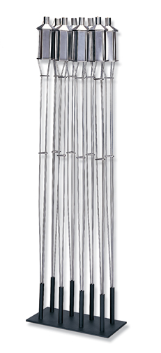 Stainless Steel In-Ground Patio Torches - Uniflame