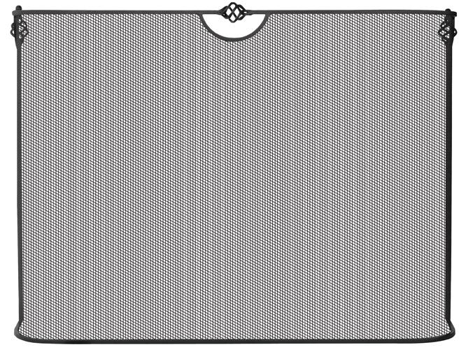 UniFlame Curved Single Panel Iron Sparkguard - Uniflame
