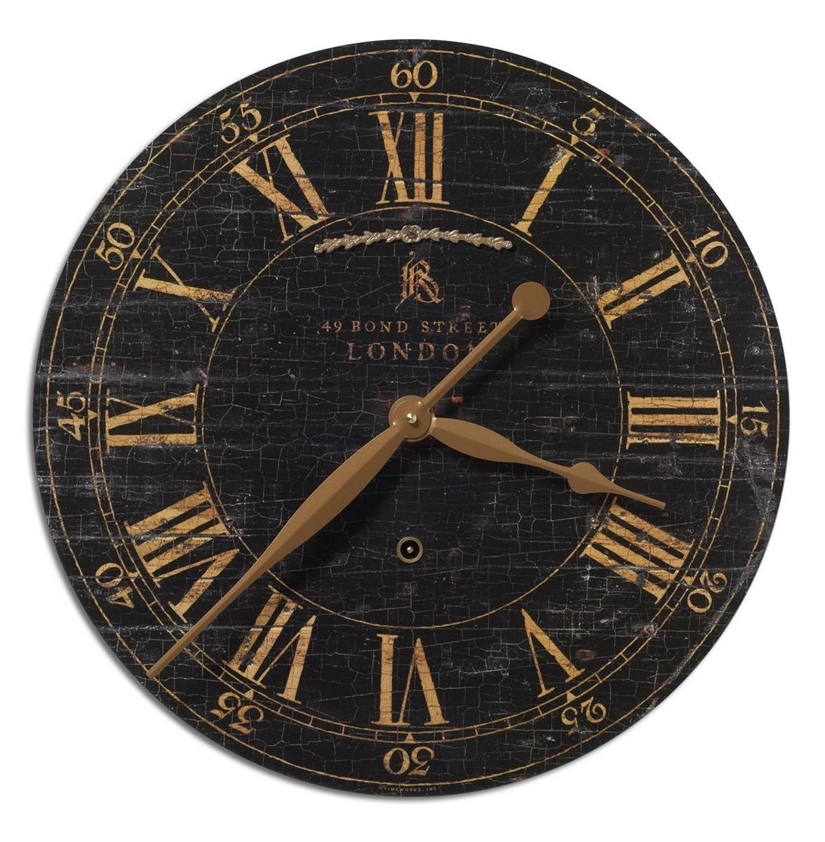 Uttermost Bond Street 18 Black Wall Clock
