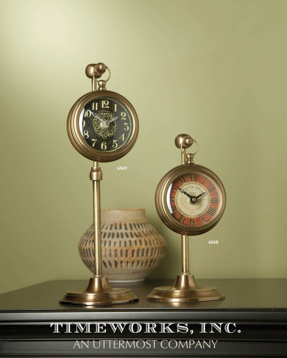Uttermost Pocket Watch Brass Woodburn