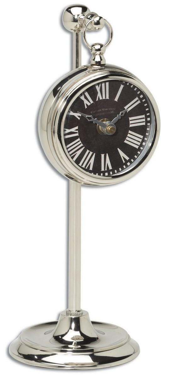 Uttermost Pocket Watch Nickel Marchant Black