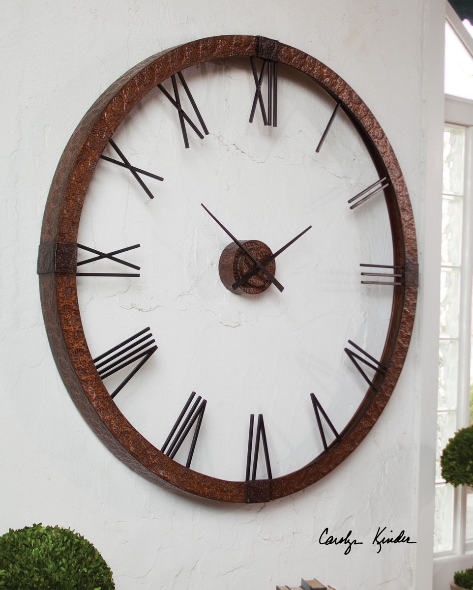Uttermost Amarion 60 Copper Wall Clock