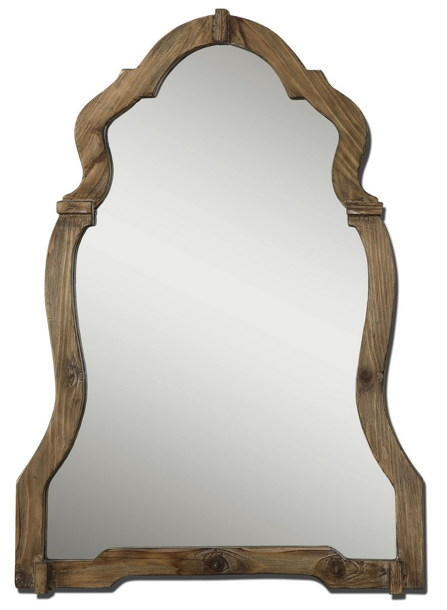 Uttermost Agustin Light Walnut Mirror