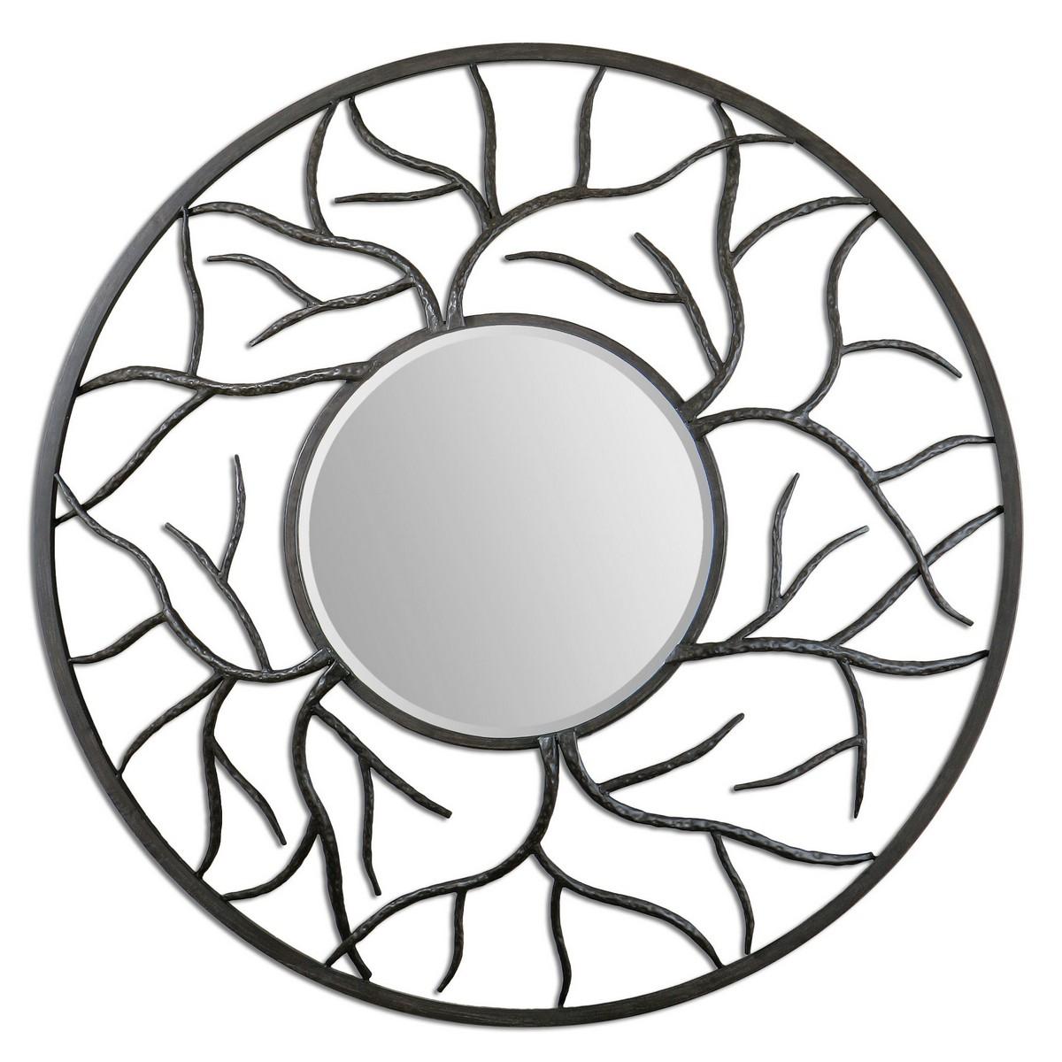 Uttermost Esher Round Metal Mirror 07665