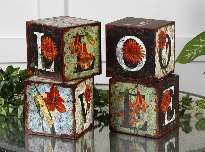 Uttermost Love Letters Decorative Boxes - Set of 4