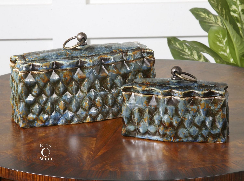 Uttermost Neelab Ceramic Containers - Set of 2