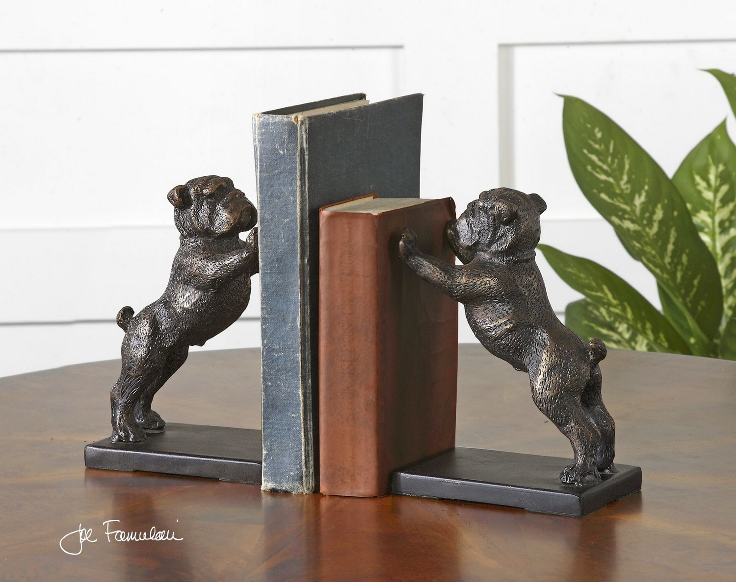 Uttermost Bulldogs Cast Iron Bookends - Set of 2