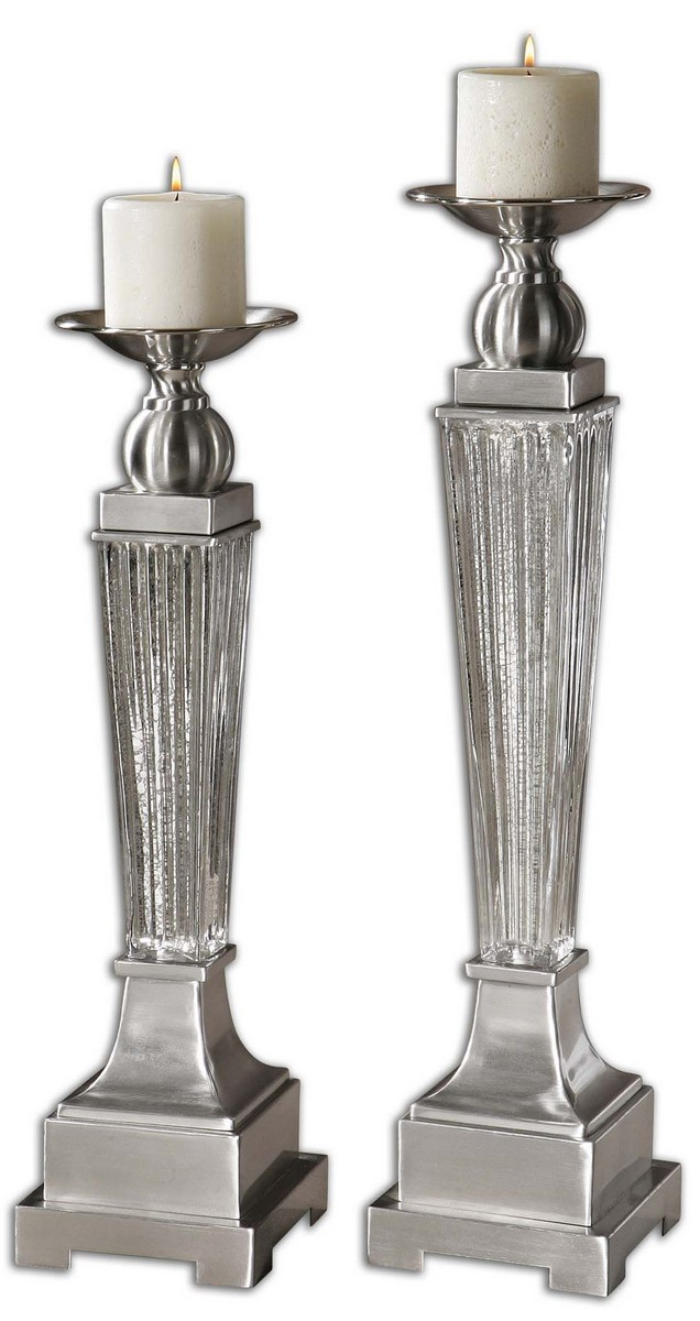 Uttermost Canino Mercury Glass Candleholders - Set of 2 19769
