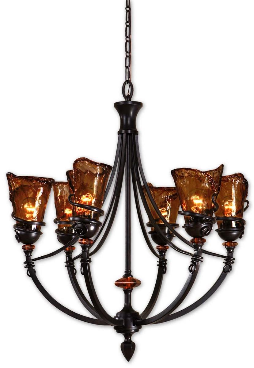 Uttermost Vitalia 6Lt Oil Rubbed Bronze Chandelier
