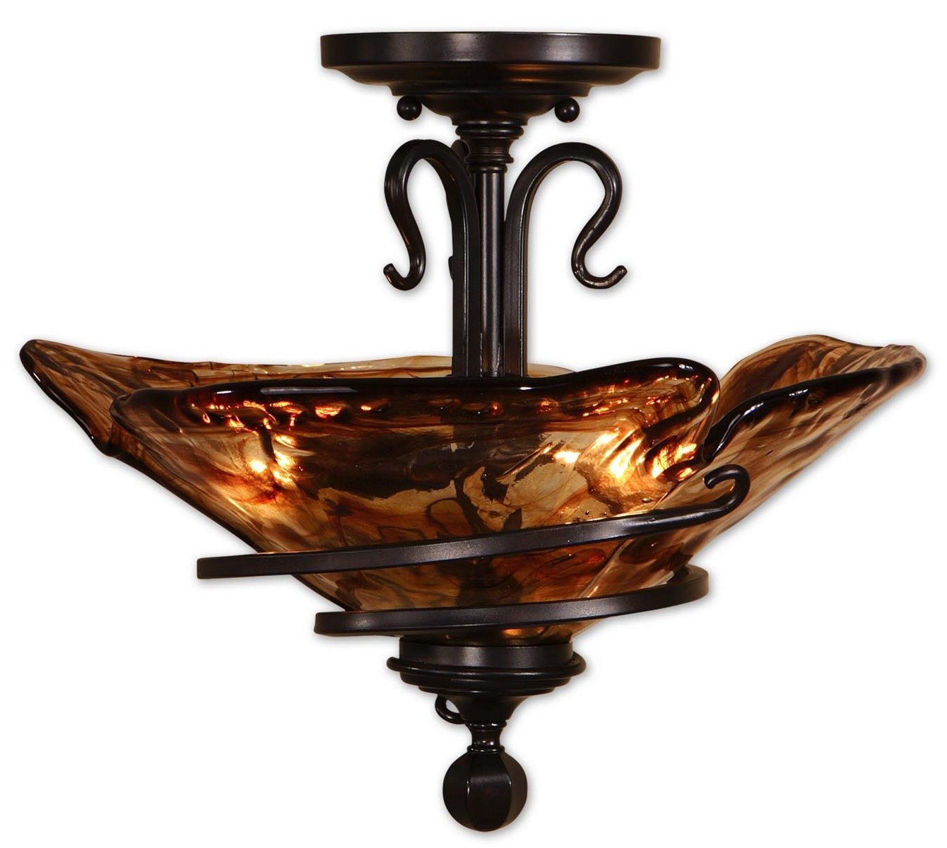 Uttermost Vitalia Oil Rubbed Bronze Semi FlushMount