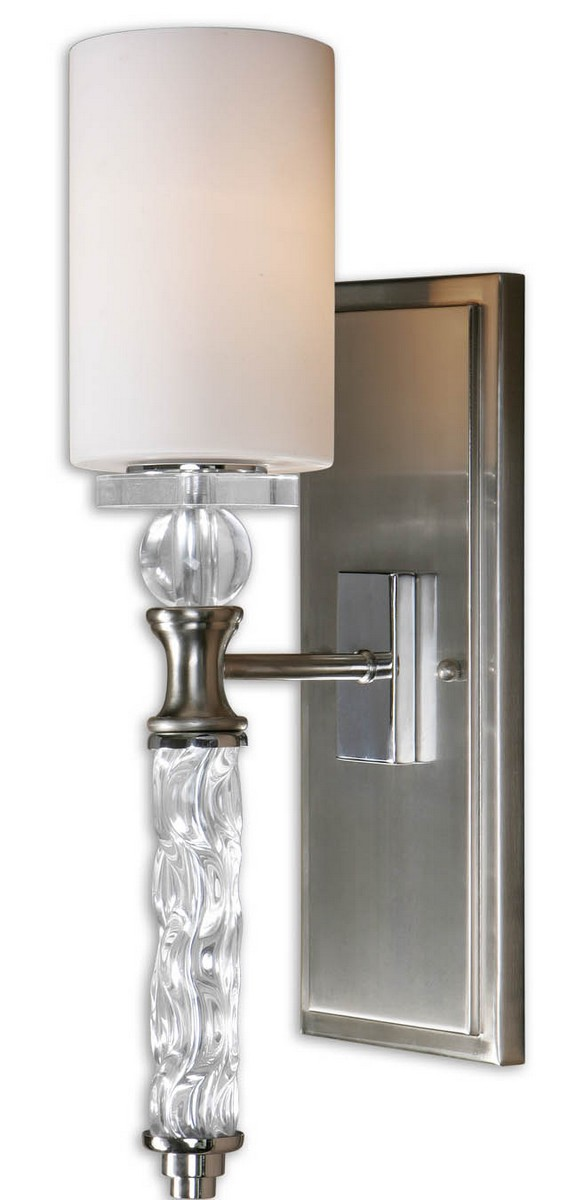 Uttermost Campania 1 Light Carved Glass WallSconce