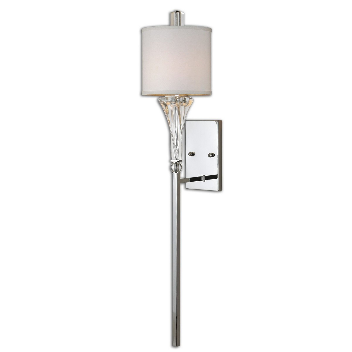 Uttermost Grancona 1 Light Chrome Wall Sconce UTTERMOST-22495 at Homelement.com