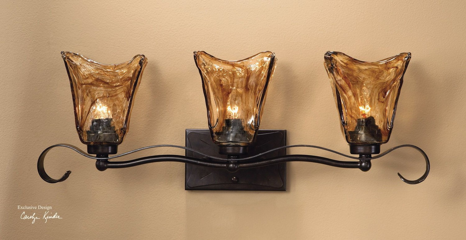 Uttermost Vetraio 3 Light Bronze Vanity Strip