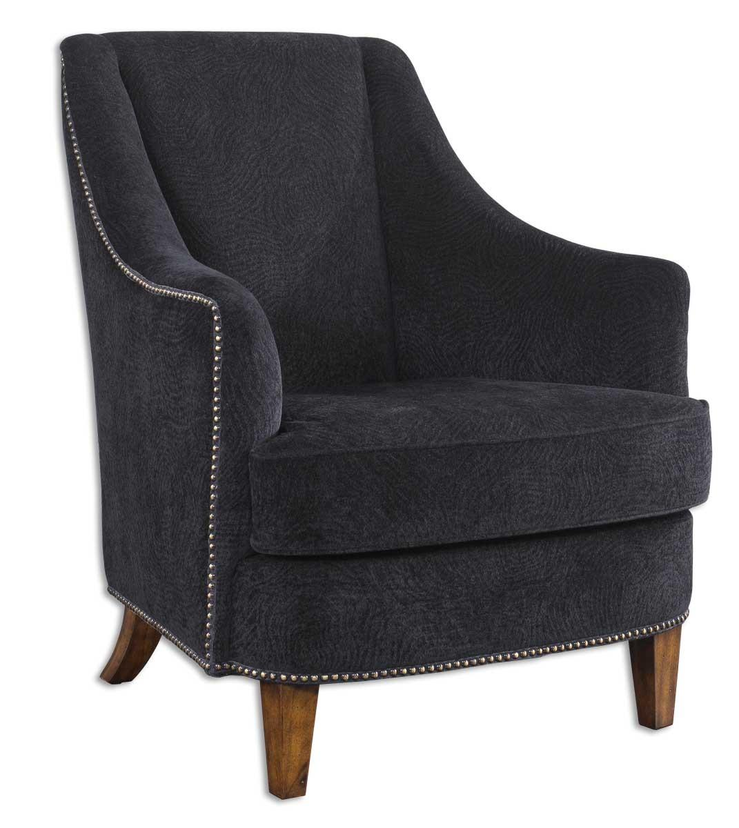 Uttermost Nala Midnight Black Armchair