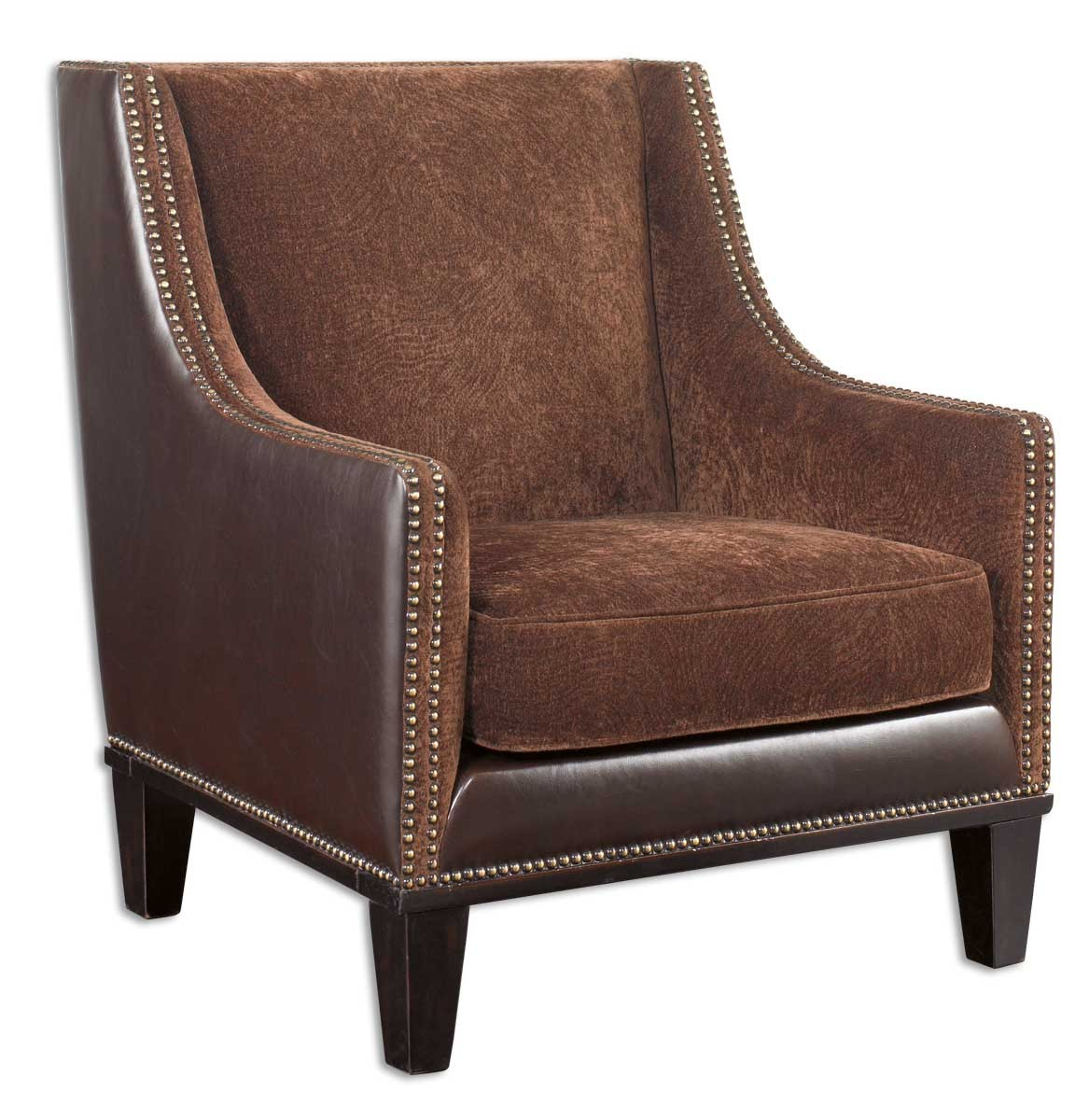 Uttermost Derek Plush Chestnut Armchair