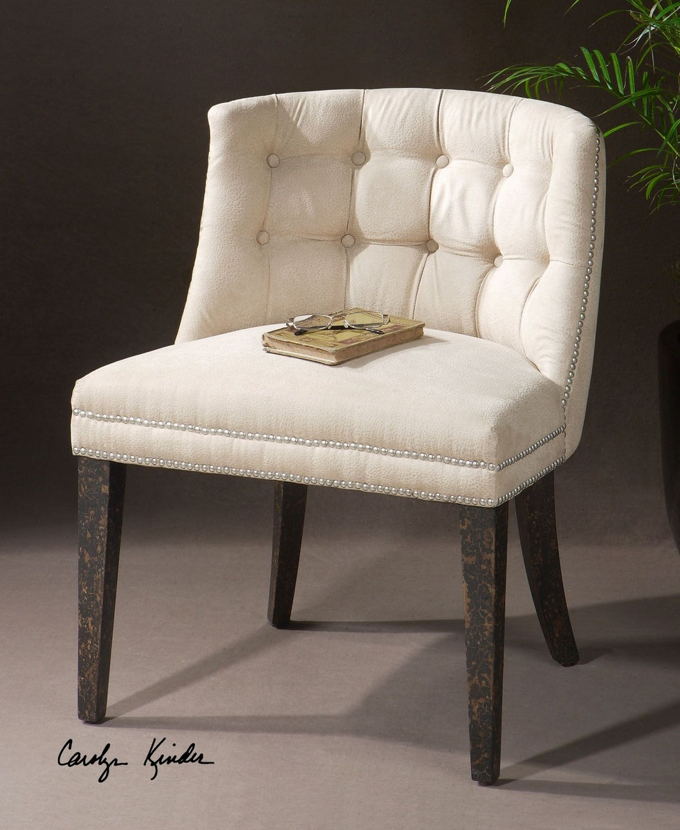 Uttermost Trixie Tufted Slipper Chair