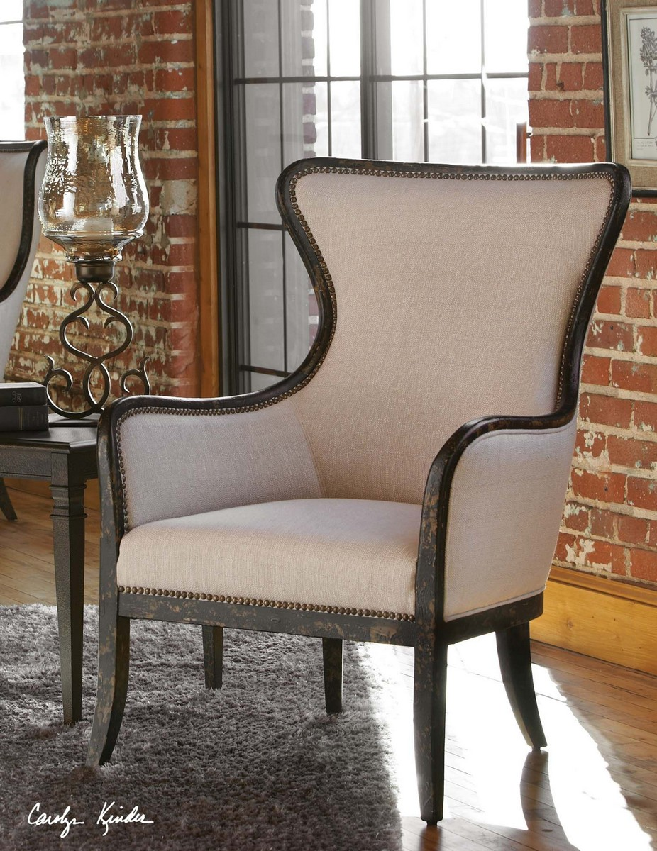 Uttermost Sandy Wing Back Armchair