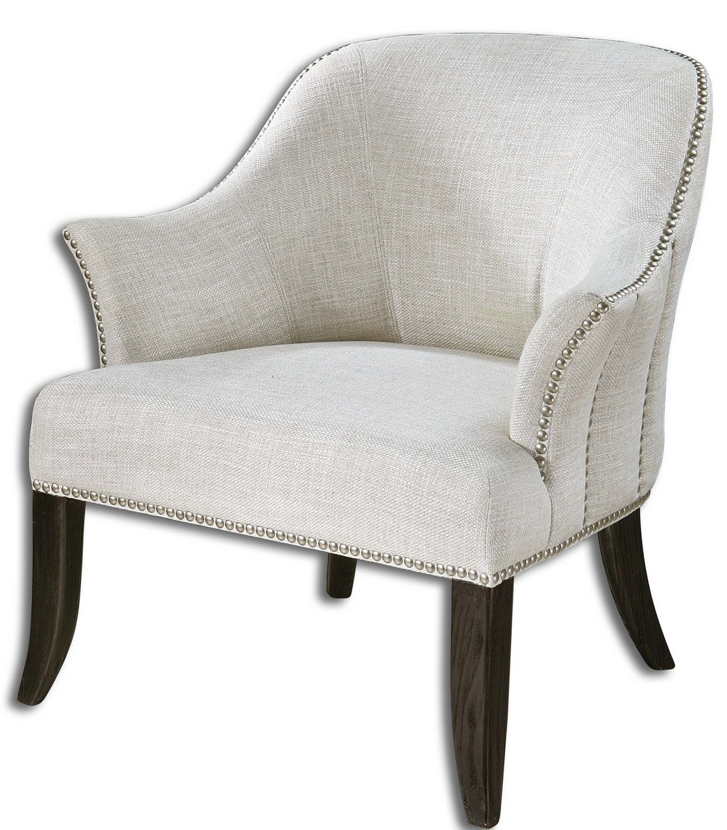 Uttermost Leisa White ArmChair