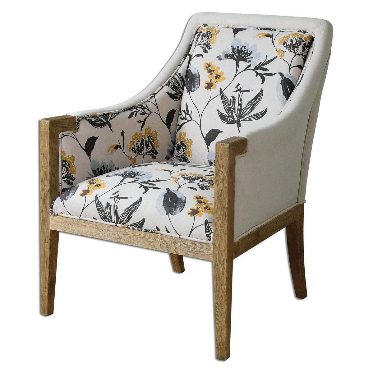Uttermost Floral Curran Armchair