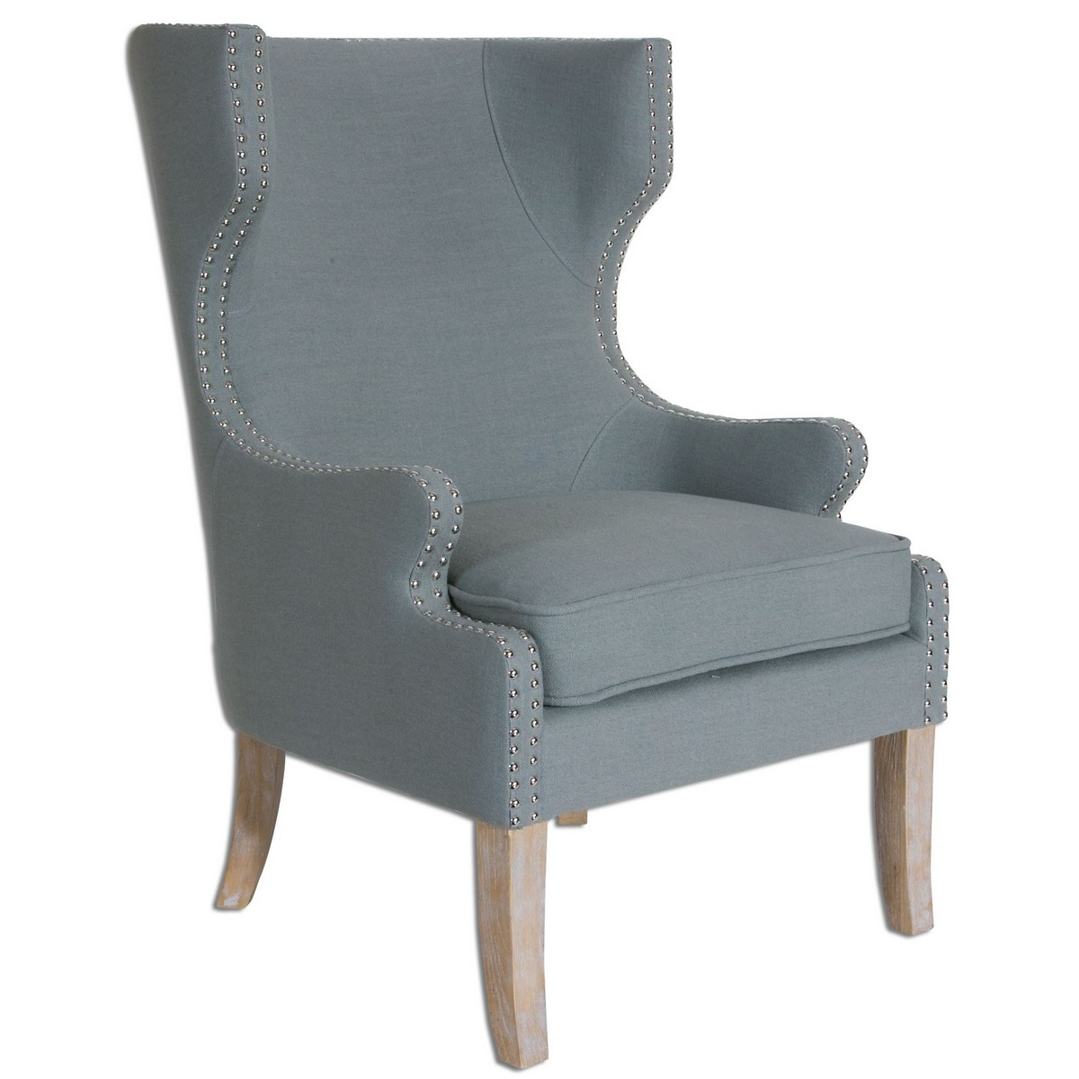 Uttermost Graycie High Back Wing Chair