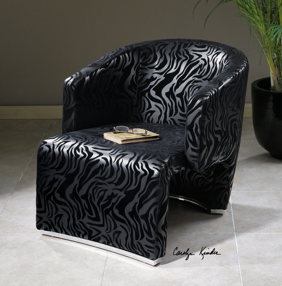 Uttermost Yareli Zebra Accent Chair