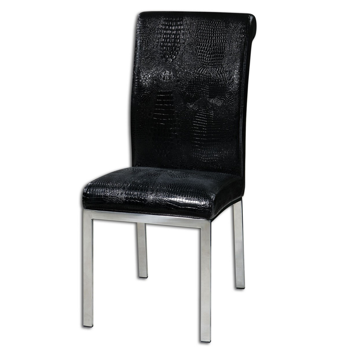 Uttermost Zaidee Black Accent Chair