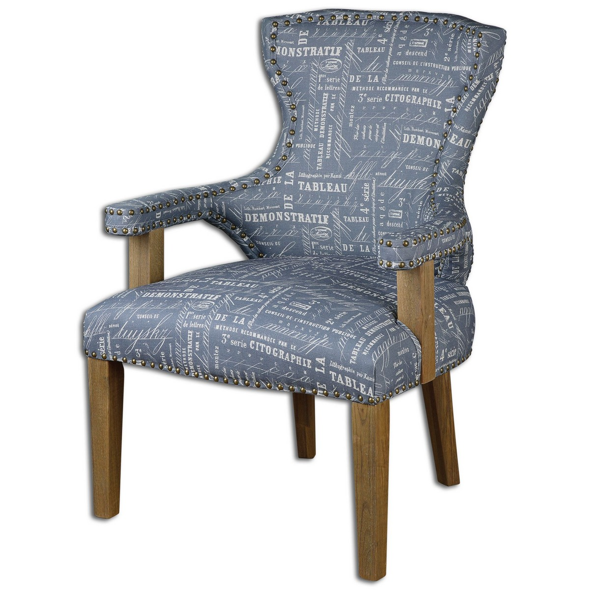 Uttermost Citographie Gray Linen Armchair