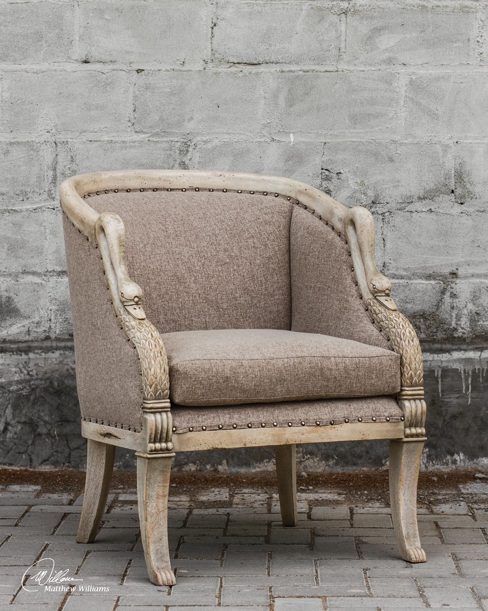 Uttermost Swaun Hand Carved ArmChair