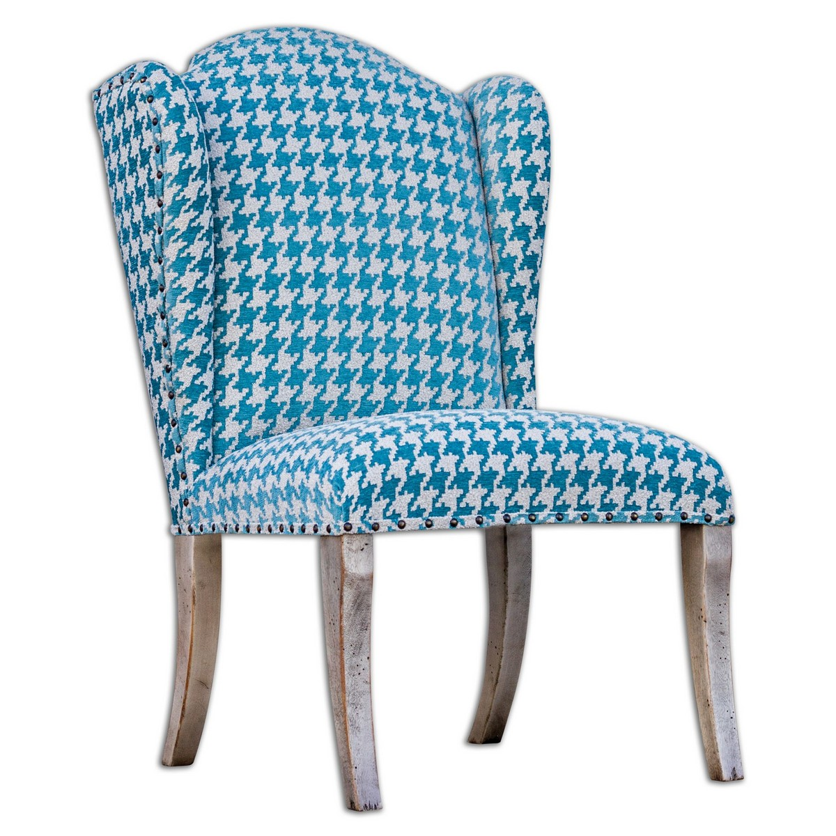 uttermost winesett blue armless chair uttermost