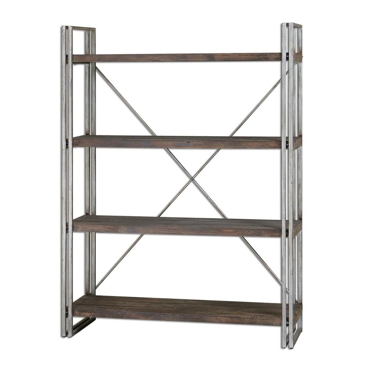uttermost greeley metal etagere uttermost 24396 at. Black Bedroom Furniture Sets. Home Design Ideas